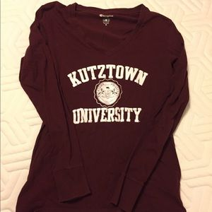 College long sleeve shirt.